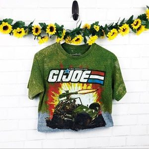 G.I. Joe Custom Acid Wash Crop Top SZ S